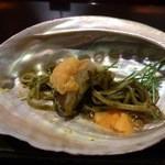 日本料理 晴山 - (2013年4月)こんな感じで食べます。