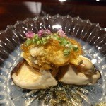 日本料理 晴山 - (2013年4月)三重県の離島梶島のあさりと魚沼の椎茸にジュレ!