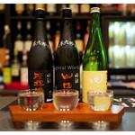 居酒屋⁺Neko - 「田酒3種 飲み比べ」(2015.10)