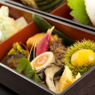 一品一品こだわって作り上げた松花堂弁当、是非ご賞味ください。