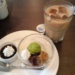 グリーンハウス - ティータイム 黒糖わらびもち&自家製ゼリー