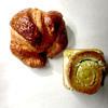 フォション - 料理写真:クロワッサンとクロワッサン・スコーン(ピスタチオ)