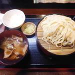 うちだや - 山かけ肉ねぎうどん 並盛¥600