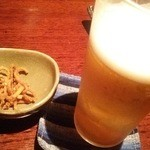 蕎麦雪月花 - プレミアムビールと揚げた蕎麦