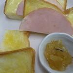 茶房 萌木 - トーストセッ、アップルジャム