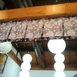奥会津 - 店内の天井はこんな感じ。
