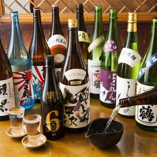 九州地方のこだわり銘柄焼酎や日本酒を多数揃えております。