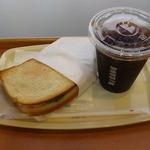ドトールコーヒーショップ - モーニングセット(ハムチーズのホットサンド,アイスコーヒー)