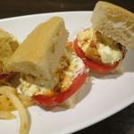 ベルマーレカフェ - 自家製サンドイッチセット 大盛 ~海老カツサンド タルタルソース~