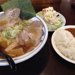 めんや ひまわり - 中華そば サラダ カレーライス
