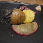 スノー グース - ランチにつくアペリティフ。450度で焼いた鎌倉野菜度です