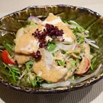 福遊庵 - 大山鷄とプチトマトのサラダ