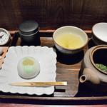 一保堂茶舗 喫茶室 嘉木 - 新茶&お菓子のセッ 1600円