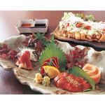 """夙川 中屋 - 1日限定4食のみです「""""新鮮""""朝採りの鶏刺身盛り合わせ」 800円。"""