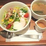 ナナズグリーンティー - 温泉卵タコライス丼(Sサイズ)
