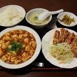 44450917 - 麻婆豆腐・豚天セット800円