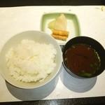 モリタ屋 - 〆のご飯と赤だし、香の物❤ ヽ(´∀`≡´∀`)ノ