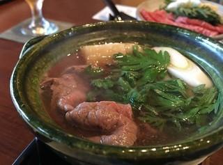日路庵 - A5博多和牛赤ワイン鍋