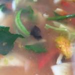44455550 - 《トマトソバ》865円                       最初は透き通るようなスープも後半はトマトや野菜の旨味が溶け出してピンクに…                       2015/11/13