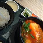 東京純豆腐 - プルコギ ズンドゥブセット1250円