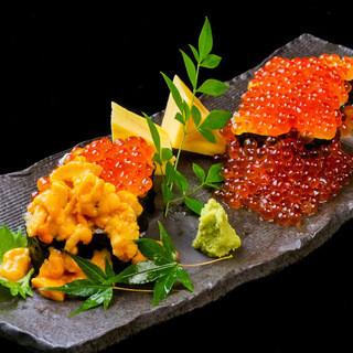 職人が技が光る寿司旬の素材~一風変わった寿司まで握ります