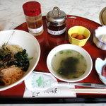4446798 - 冷麺定食 ¥980 の冷麺以外