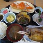 お食事処 若林 - かにランチ 1750円(2015.11)