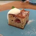 LIFE - ランチに+100円デザート:りんごのバターケーキ