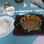 レストランこはく - 照焼き和風ハンバーグ 900円(ライス又はパン、サラダ、味噌汁、ドリンク付)