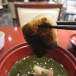 麻布茶房 - 焼餅リフトアップ