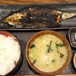 越後屋喜八郎 - さんまみりん干し定食850円(税込)