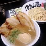 つけ麺 津気屋 - 炙りチャーシュー味玉トッピング