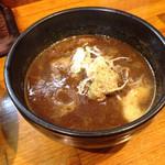 らーめん武士道 - 熱い器に熱いスープ