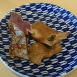 44472883 - カツオのたたき、豚のしょうが焼き