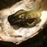 かき処 七商店 - 蒸し牡蠣(殻の割に小さいもの)