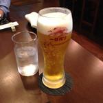 創作料理 まさぞう - 生ビール650円