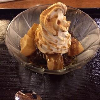 竹膳 - アイスぜんざい。税込480円。風呂上がりに美味し。