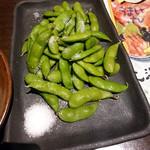 炭焼き漁師小屋料理 目黒西のひもの屋 - 茶豆 313円