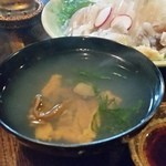 南部民芸料理 蔵 - 「いちご煮 (1480円)」はさっぱりと磯の香りがふんわり