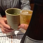 阿波水産 - H.27.6.5.夜 瓶ビール 540円 vs お茶