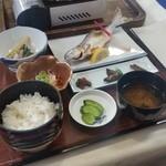 十和田食堂 - 「十和田湖ひめます塩焼定食(中) (1600円)」