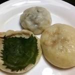 豊誠堂製菓舗 - しそなす、玉葱マヨ、野沢菜