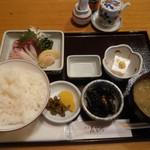 酒房長谷川 - 刺身定食