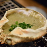 磯丸水産 - 蟹味噌甲羅焼