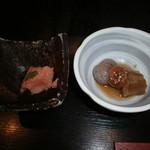 44487147 - 小鉢(明太、茄子・蒟蒻)