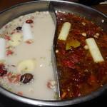 44488436 - 白湯と麻辣スープ