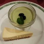 マリーザ - デザート(抹茶ときな粉のブラマンジェ、チーズケーキ)