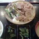 楽座 - 151001東京 楽座 豚生姜焼き定食650円