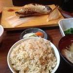 44493973 - ランチ 赤魚西京焼き 玄米 1,200円