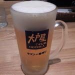 大戸屋 - 生ビール中ジョッキ